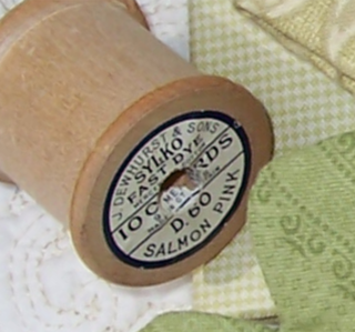 Wooden spool given to One Day In May by Bustles and Bows