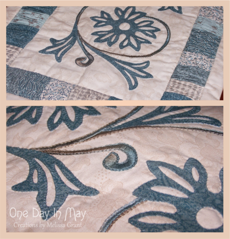 A Cornflower Gathering - Table Runner One Day In May 2