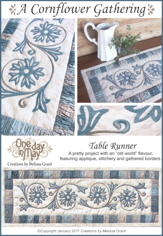 A Cornflower Gathering Pattern Cover 2 One Day In May