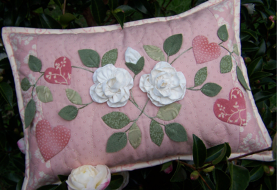 One Day In May As Roses Bloom ~ Cushion1