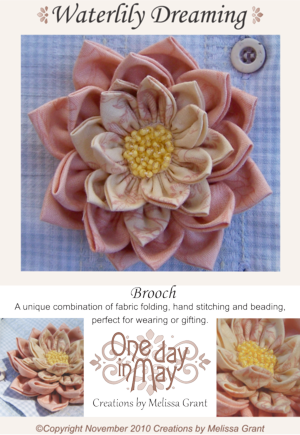 Waterlily Dreaming Brooch Pattern Cover