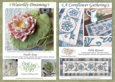 One Day In May, Creations by Melissa Grant ~ patterns for auction