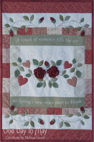 As Roses Bloom ~ Quilt - One Day In May Creations by Melissa Grant