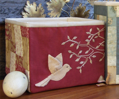 Birds Of The Meadow 4 ~ Fabric Storage Boxes - One Day In May