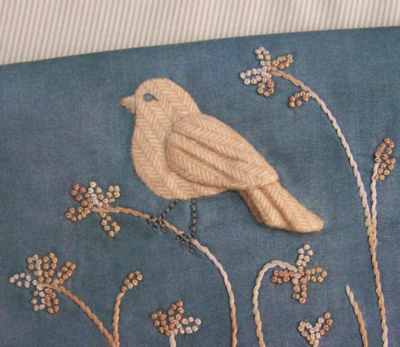 Dimensional Bird Applique 1 One Day In May, Creations by Melissa Grant