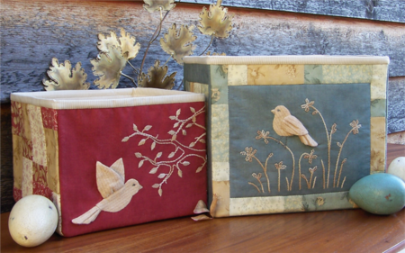 Birds Of The Meadow ~ Fabric Storage Boxes - One Day In May