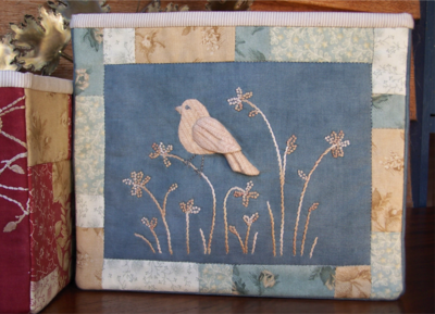 Birds Of The Meadow 3 ~ Fabric Storage Boxes - One Day In May