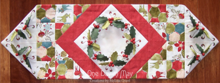 Deck The Halls ~ Table Runner full overhead shot
