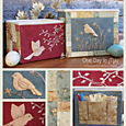 OD5 Birds of the Meadow - fabric storage boxes