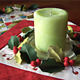 Deck the Halls Table Runner ~ centre with candle