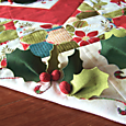 Deck the Halls Table Runner ~ end panel