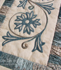 A Cornflower Gathering - Table Runner One Day In May 8