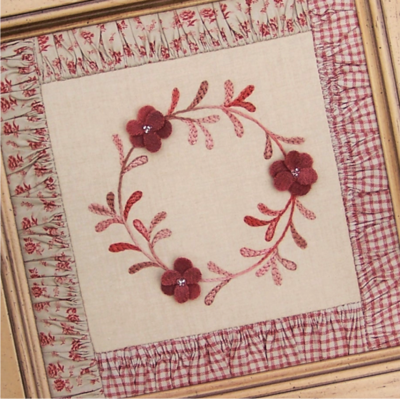 A Wreath For All Seasons ~ Framed Block 2- One Day In May, Creations by Melissa Grant