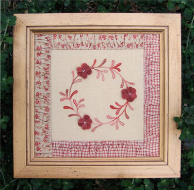 A Wreath For All Seasons ~ Framed Block - One Day In May, Creations by Melissa Grant