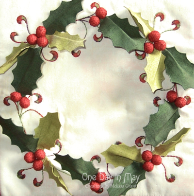 Deck The Halls ~ Table Runner holly wreath