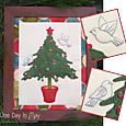 O' Christmas Tree ~ Framed applique with trapunto