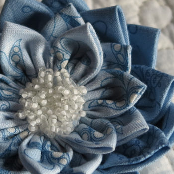 Waterlily Dreaming ~ Brooch in LIB fabrics One Day In May