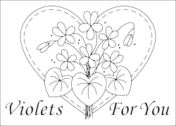 Violets For You Free Design ~ One Day In May