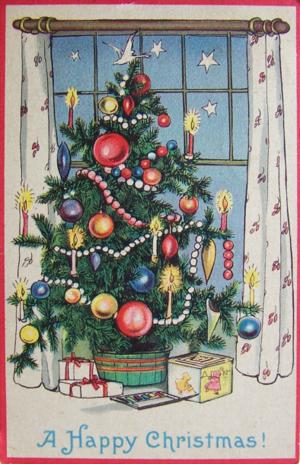1924 vintage Christmas postcard