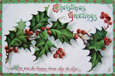 1912 vintage Christmas postcard