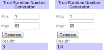 Thankful randomly generated winners