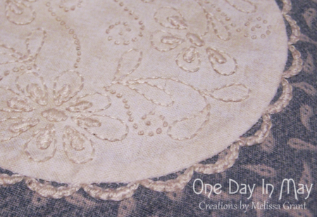 Annabelle Faux Doily ~ One Day In May