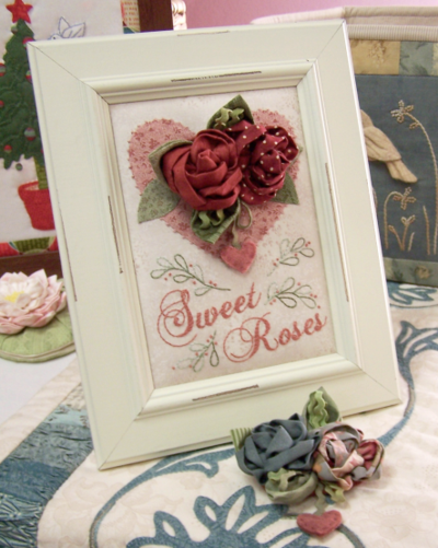 Sweet Roses ~ Brooch and Display CH wkend