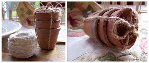 Miniature Terracotta Pots ~ One Day In May