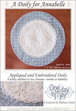 A Doily for Annabelle Pattern Cover sm~ One Day In May