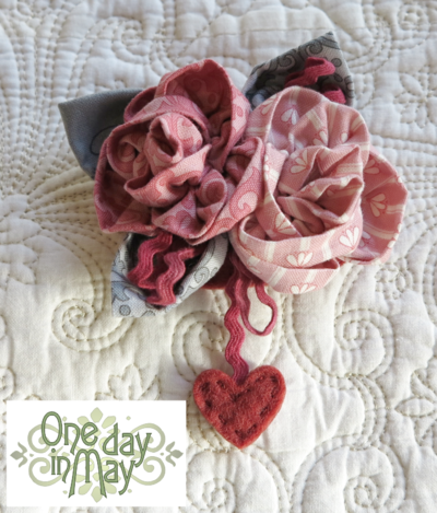 Sweet Roses Brooch ~ One Day In May