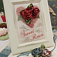 Sweet Roses ~ Brooch and Display 2