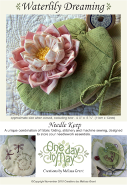 Waterlily Dreaming Needle Keep pattern front ~ One Day In May