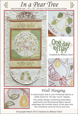 In a Pear Tree pattern cover