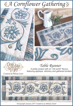 A Cornflower Gathering Pattern Cover One Day In May