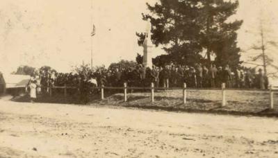 Memorial service after WW! Tooborac
