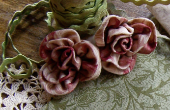 Thankful ~ fabric roses ~ One Day In May